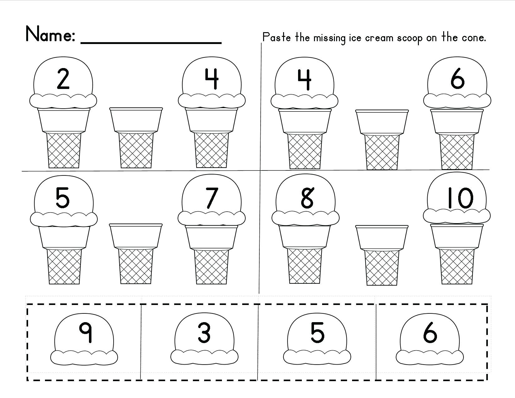 Number Recognition Worksheets for Preschoolers Free Number Recognition Worksheets Math Free