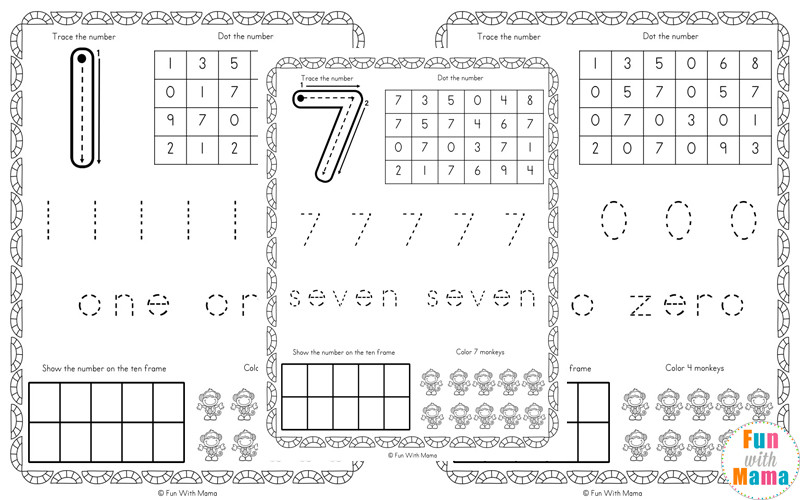 Number Themed Worksheets e