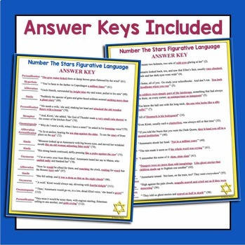 Number the Stars Worksheet Number the Stars Figurative Language assignments
