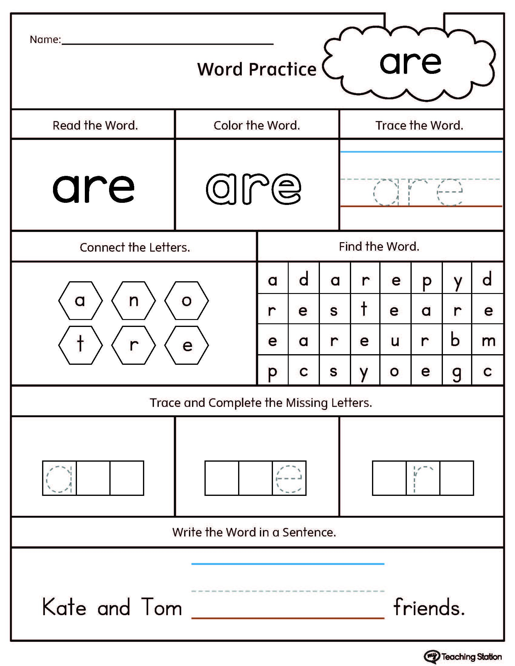 math worksheet language for kindergarten high frequency words printable worksheets science parts of the body free