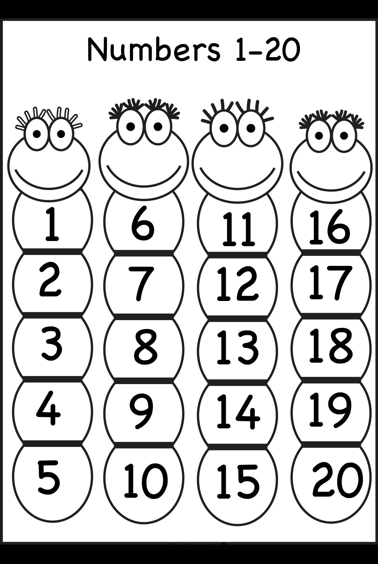 Numbers 1 30 Worksheets Printable Preschool Worksheets 1 20 Reading Counting Numbers