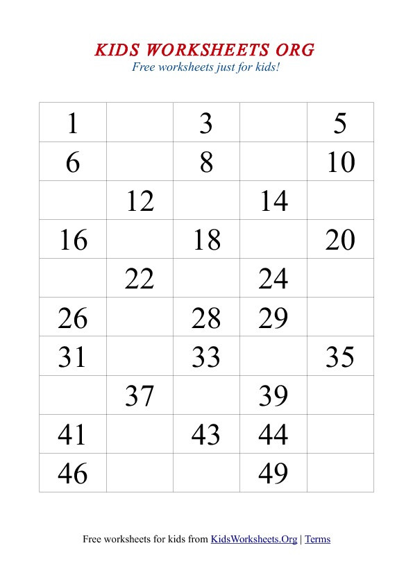 new 622 fill in missing number