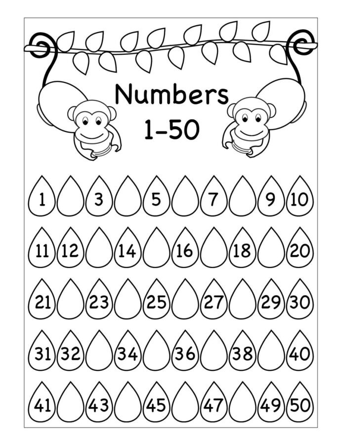 Numbers 1 50 Worksheet Missing Numbers Worksheet Printable Worksheets and Tracing