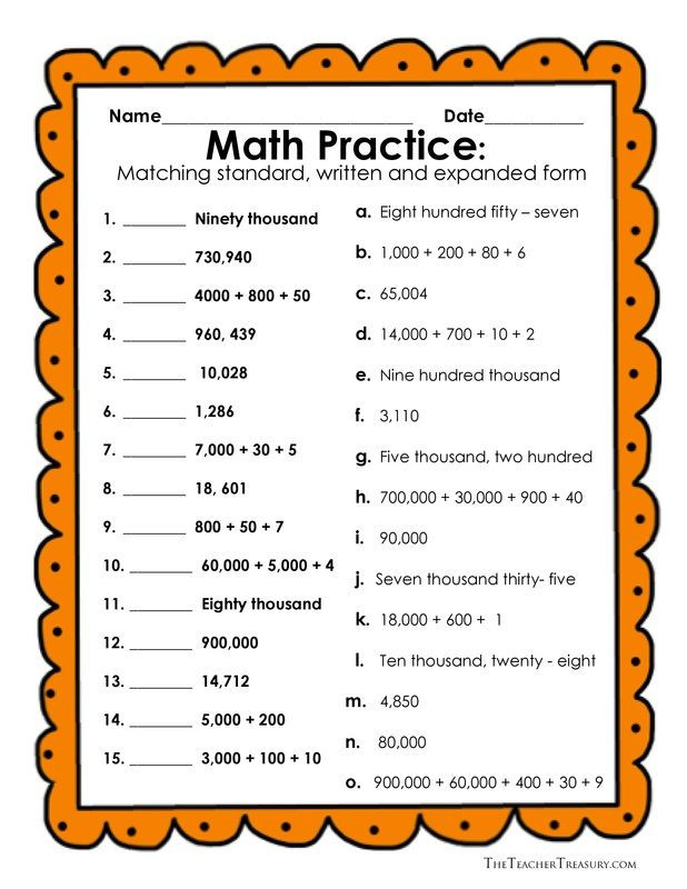 Numbers In Word form Worksheet Reading and Writing Numbers In Expanded form Standard form