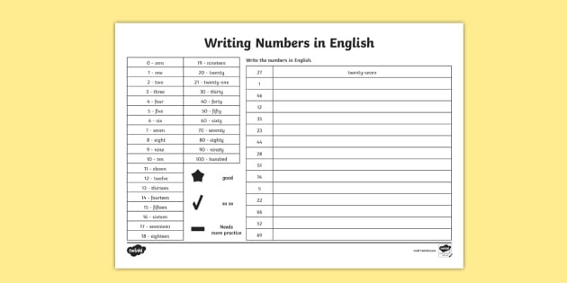 t n 6142 writing english numbers activity sheet