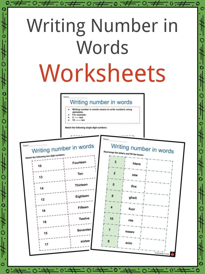 Writing Number in Words Worksheets 6
