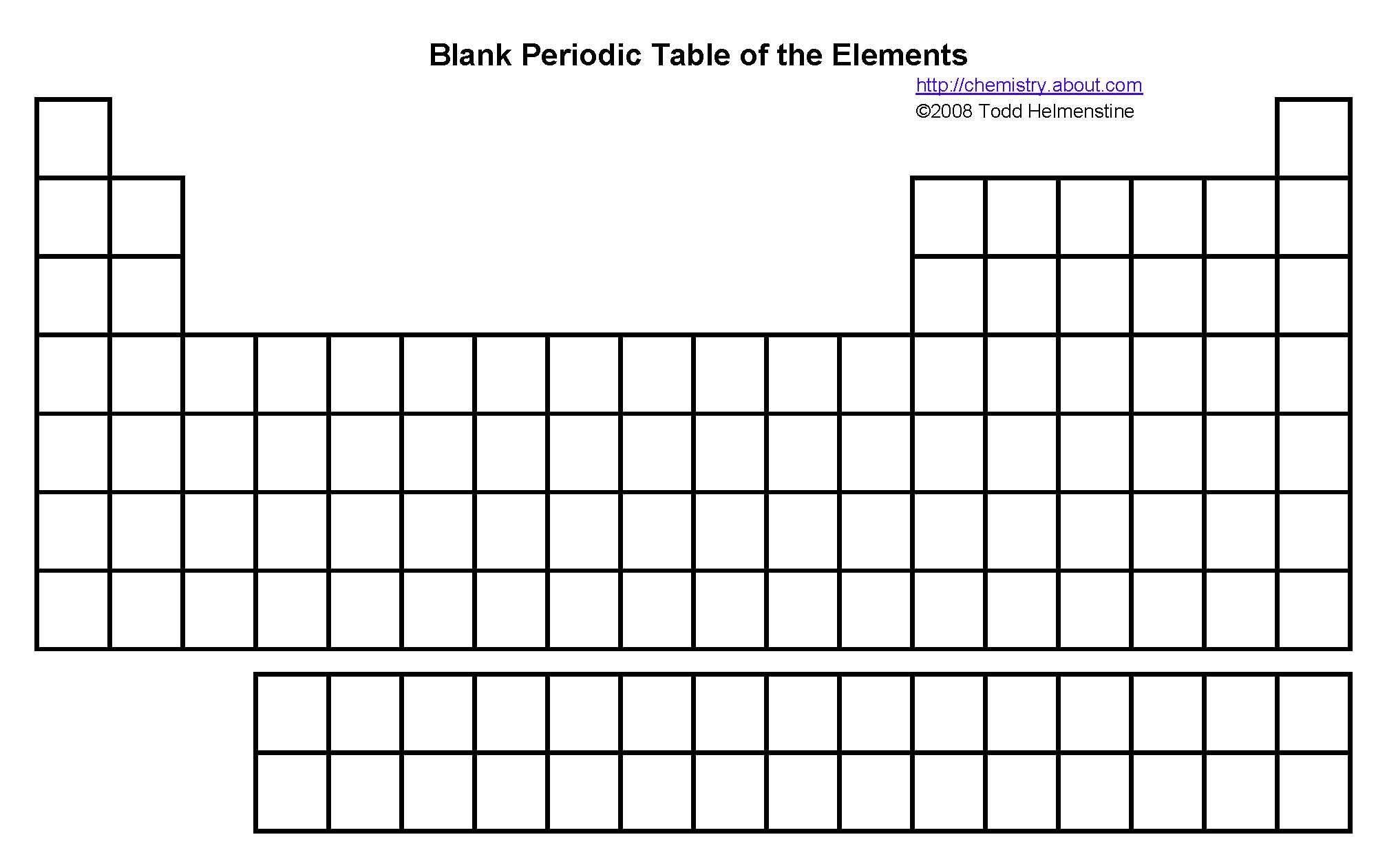 Periodic Table Fill In Worksheet Printable Periodic Tables Pdf