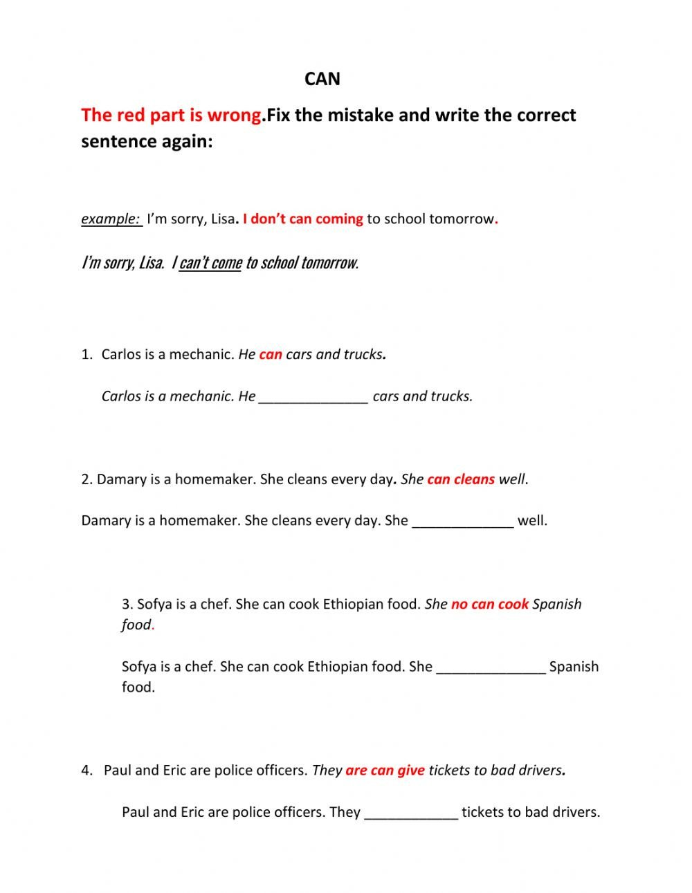 Sorry Wrong Number Worksheet Can Fix the Mistakes Interactive Worksheet
