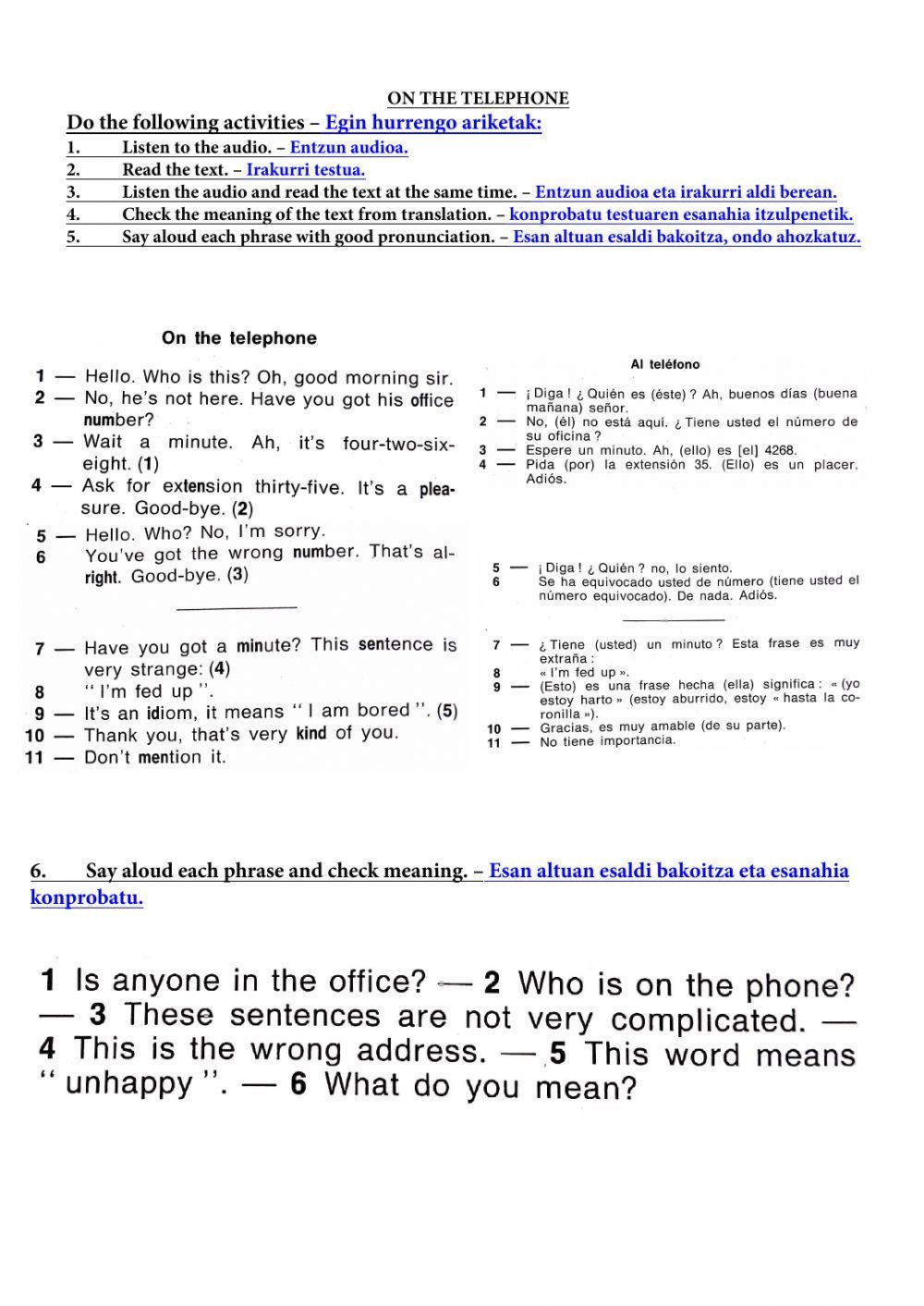 Sorry Wrong Number Worksheet the Telephone Interactive Worksheet