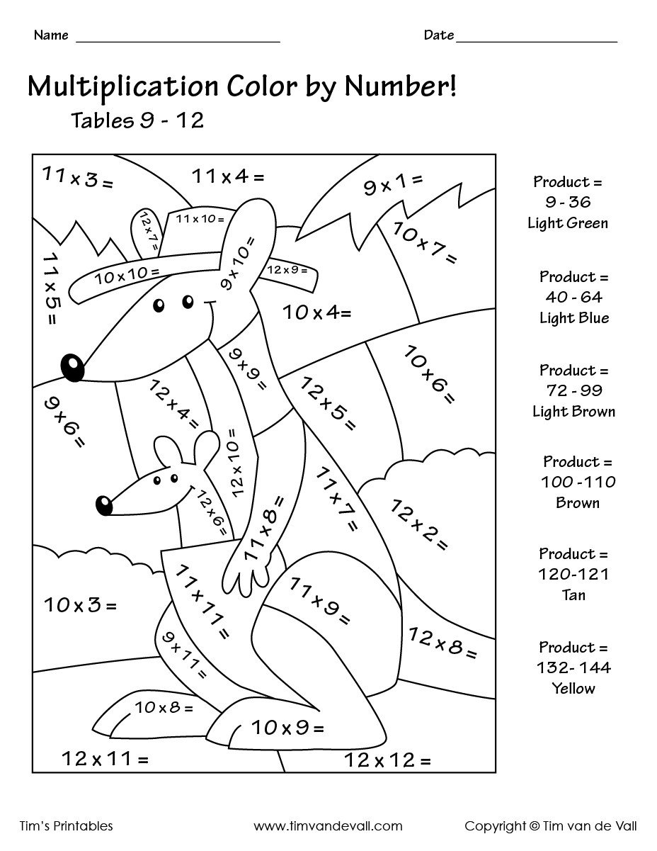 freeolor by numbers math worksheets game 2nd grade in spanish easy printable