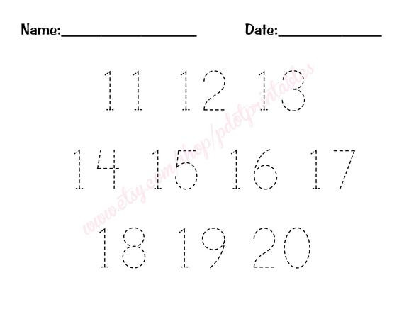 11 20 number trace worksheet pdf