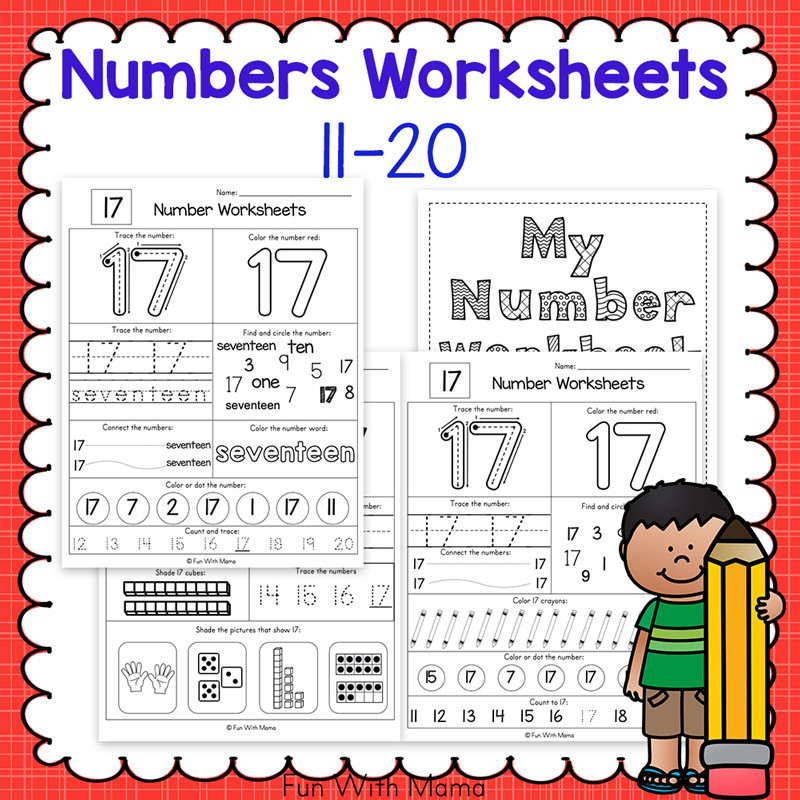 number worksheets 11 20