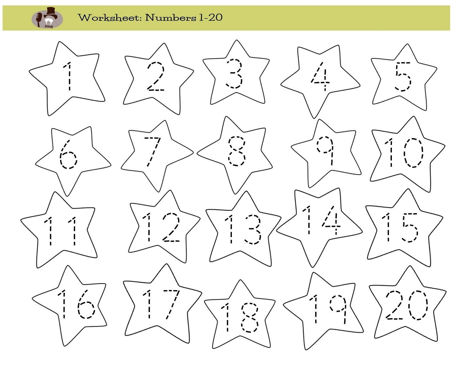 Tracing Numbers Worksheets 1 20 Worksheets Trace Numbers Worksheet Printable Worksheets