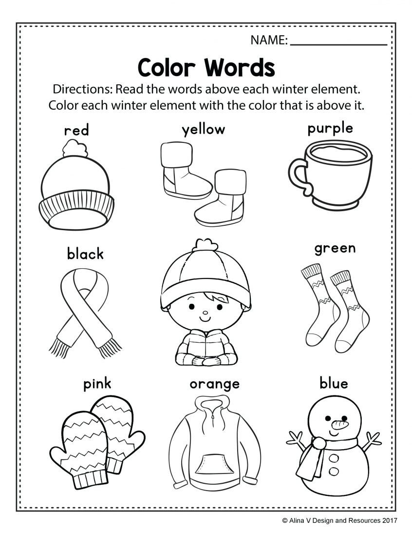 Winter Color by Number Worksheets Spring Math Worksheets for Preschoolers Clover Hatunisi Kids