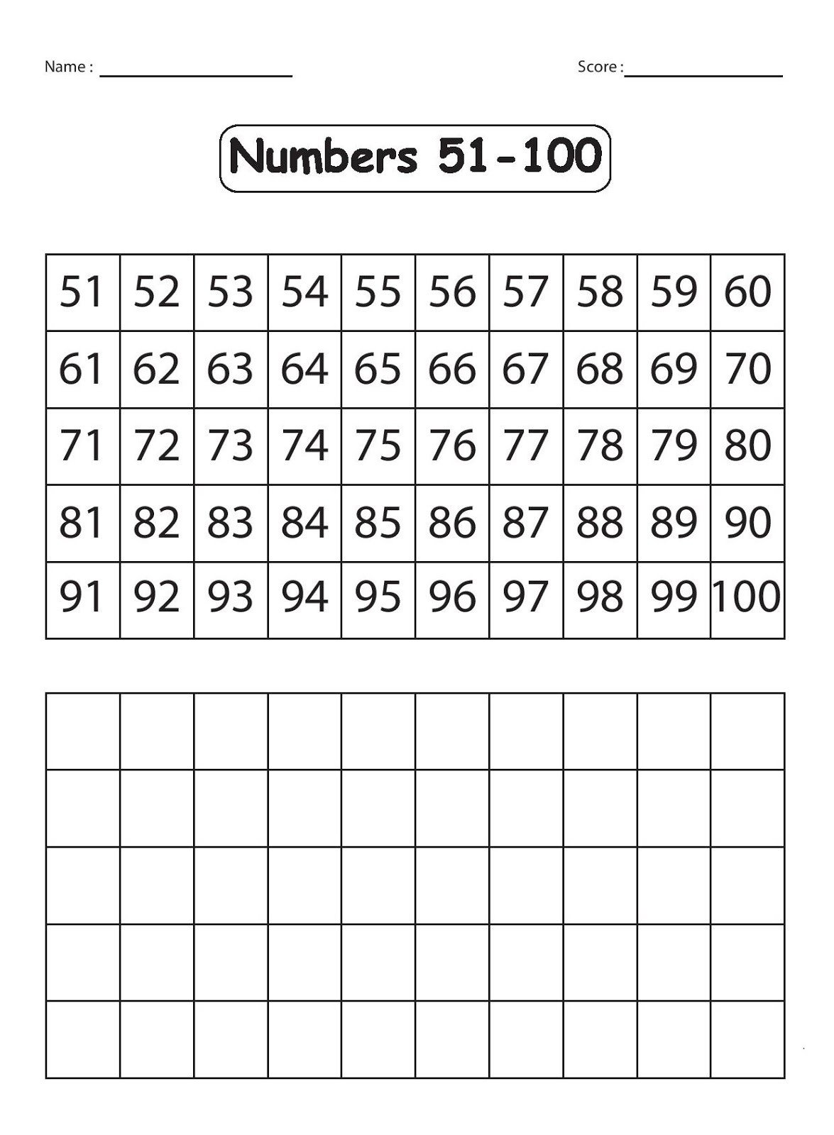 Write Numbers 1 100 Worksheet Kindergarten Worksheets Maths Worksheets Explore the
