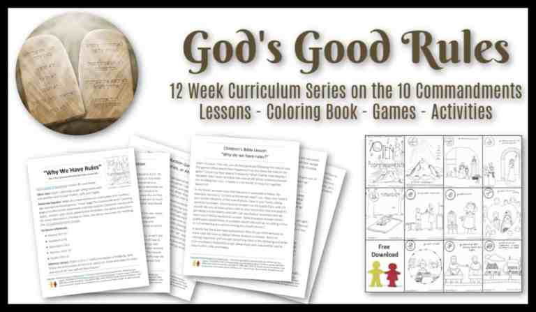 10 Commandments Printable Worksheets God S Good Rules A Study for Children On the 10