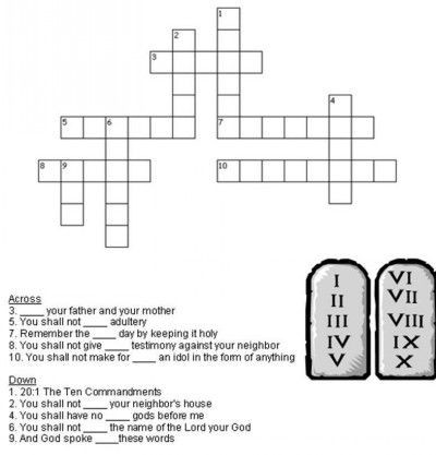 10 Commandments Printable Worksheets Pin by Kidsbiblebeat On Bible Crosswords for Kids