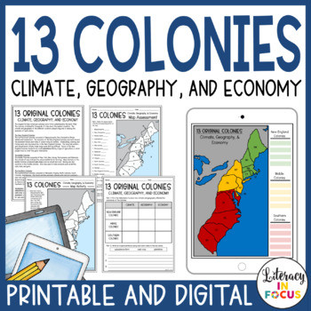 13 Colonies Free Printable Worksheets 13 Colonies Map and Activities