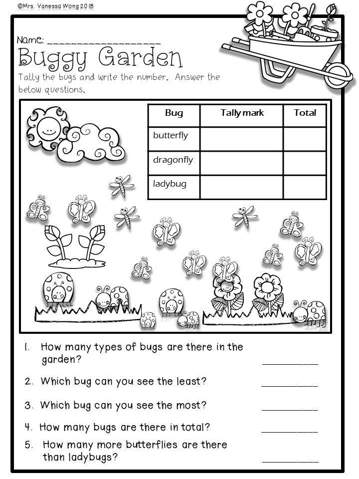 1st Grade Worksheets Free Printable Spring Math and Literacy No Prep Printables First Grade