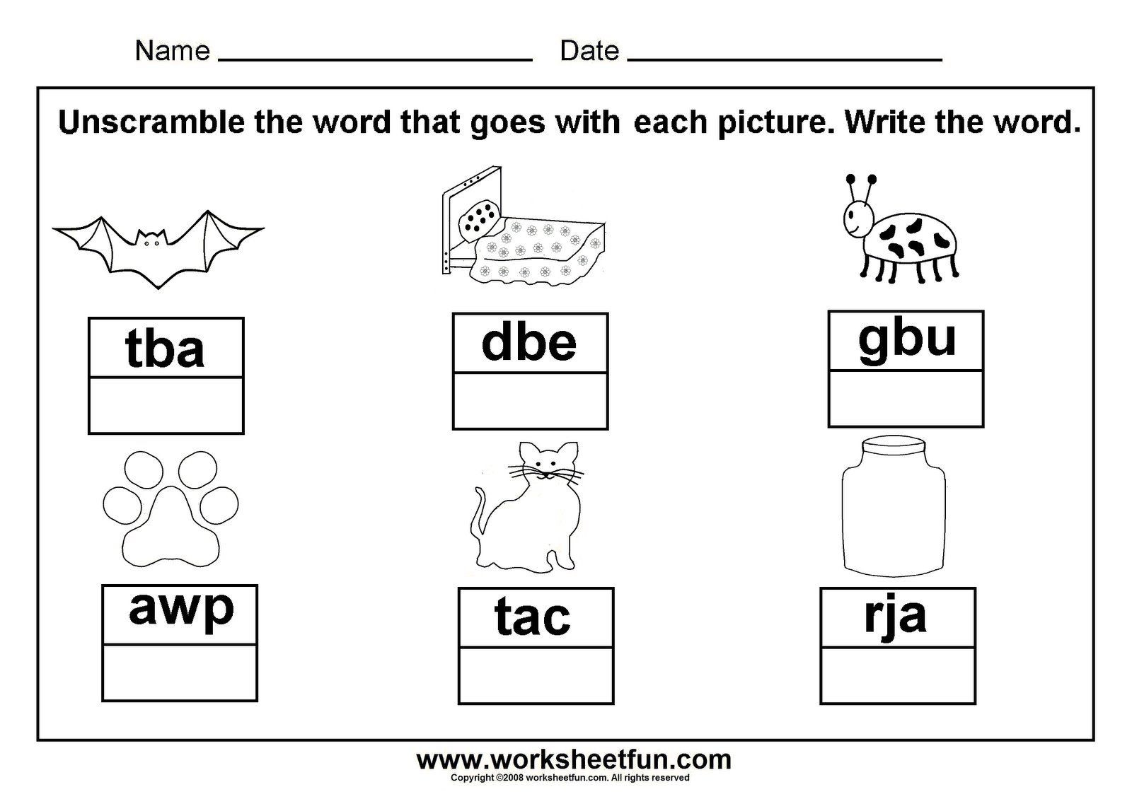 3 Letter Word Worksheet Unscramble Cvc Words Great to Laminate and Put In A Word