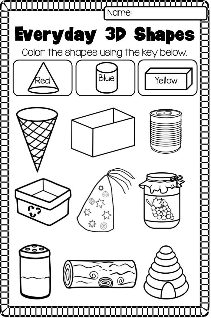 3d Shapes Printable Worksheets 3d Shapes Printable Worksheet This 2d and 3d Shape Pack