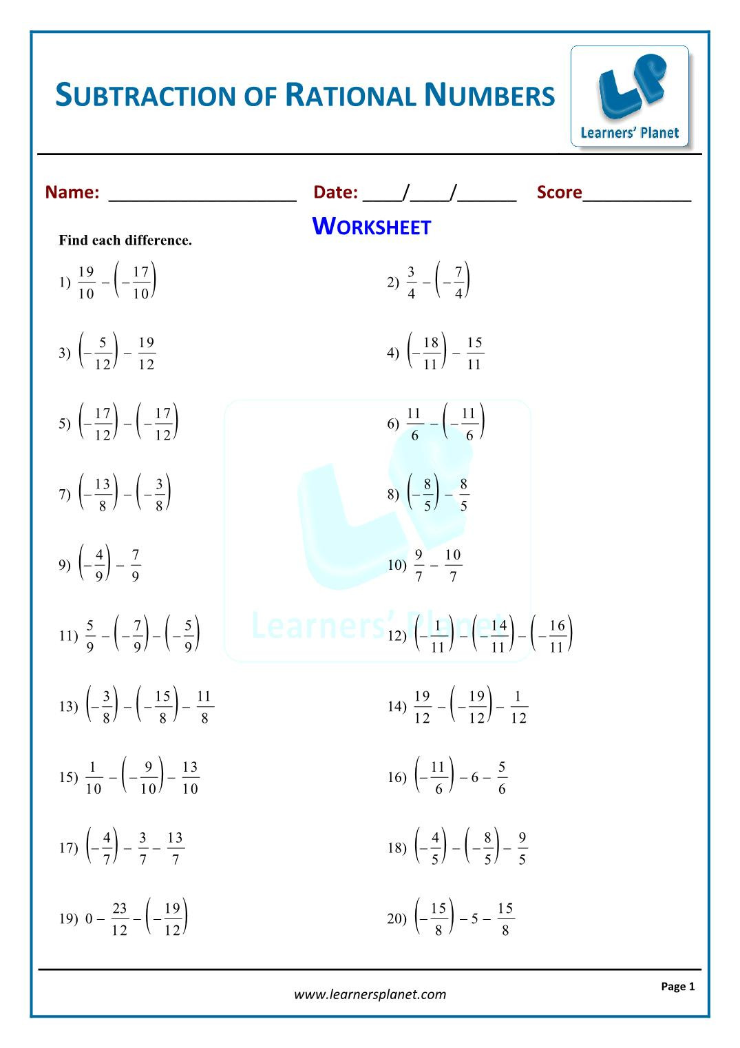 8th maths rational numbers interactive quiz tests online8th grade math worksheets double