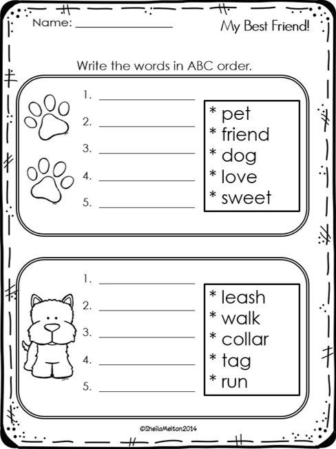 Abc order 2nd Letter Worksheets Abc order Freebie
