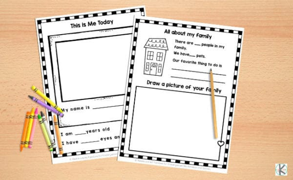 About Me Printable Worksheet All About Me Worksheets Free Printable for Kindergarten
