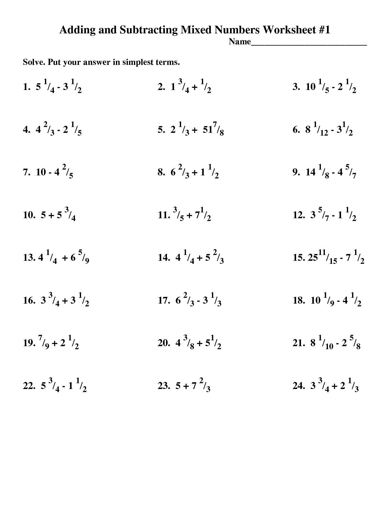 Add Subtract Multiply Divide Worksheet Adding Subtracting Multiplying Dividing whole Numbers