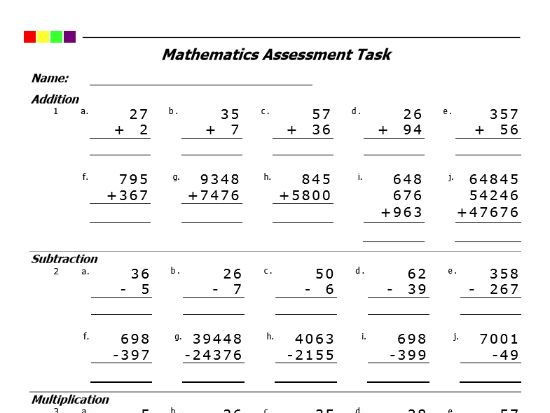 Add Subtract Multiply Divide Worksheet Addition Subtraction Multiplication Division Pdf