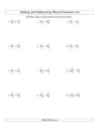 Add Subtract Multiply Divide Worksheet Fractions Worksheets