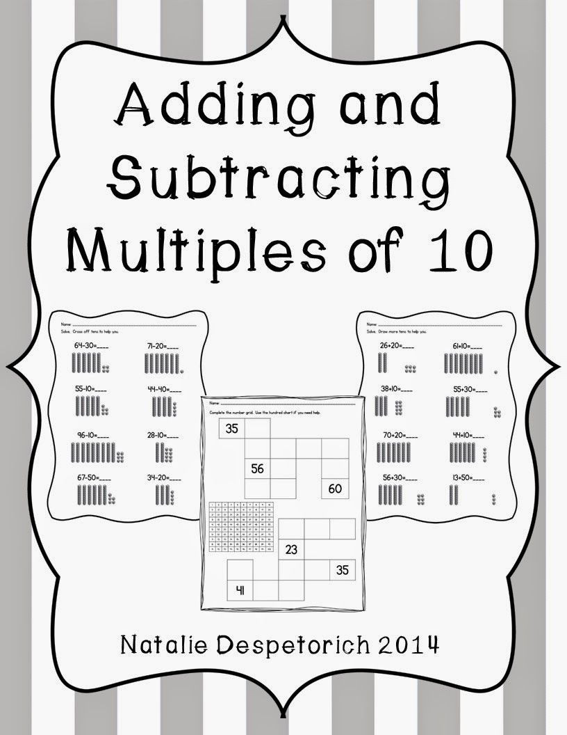 Adding Multiples Of 10 Worksheet Adding and Subtracting Multiples Of 10