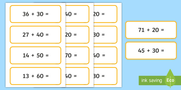 Adding Multiples Of 10 Worksheet Adding Multiples Of 10 to 2 Digit Numbers Teacher Made