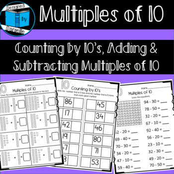 Adding Multiples Of 10 Worksheet Multiples Of Ten Worksheets Counting Addition & Subtraction