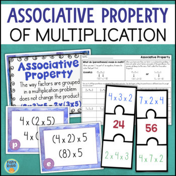 Associative Property Of Multiplication Worksheet associative Property Of Multiplication Worksheets and Math Centers