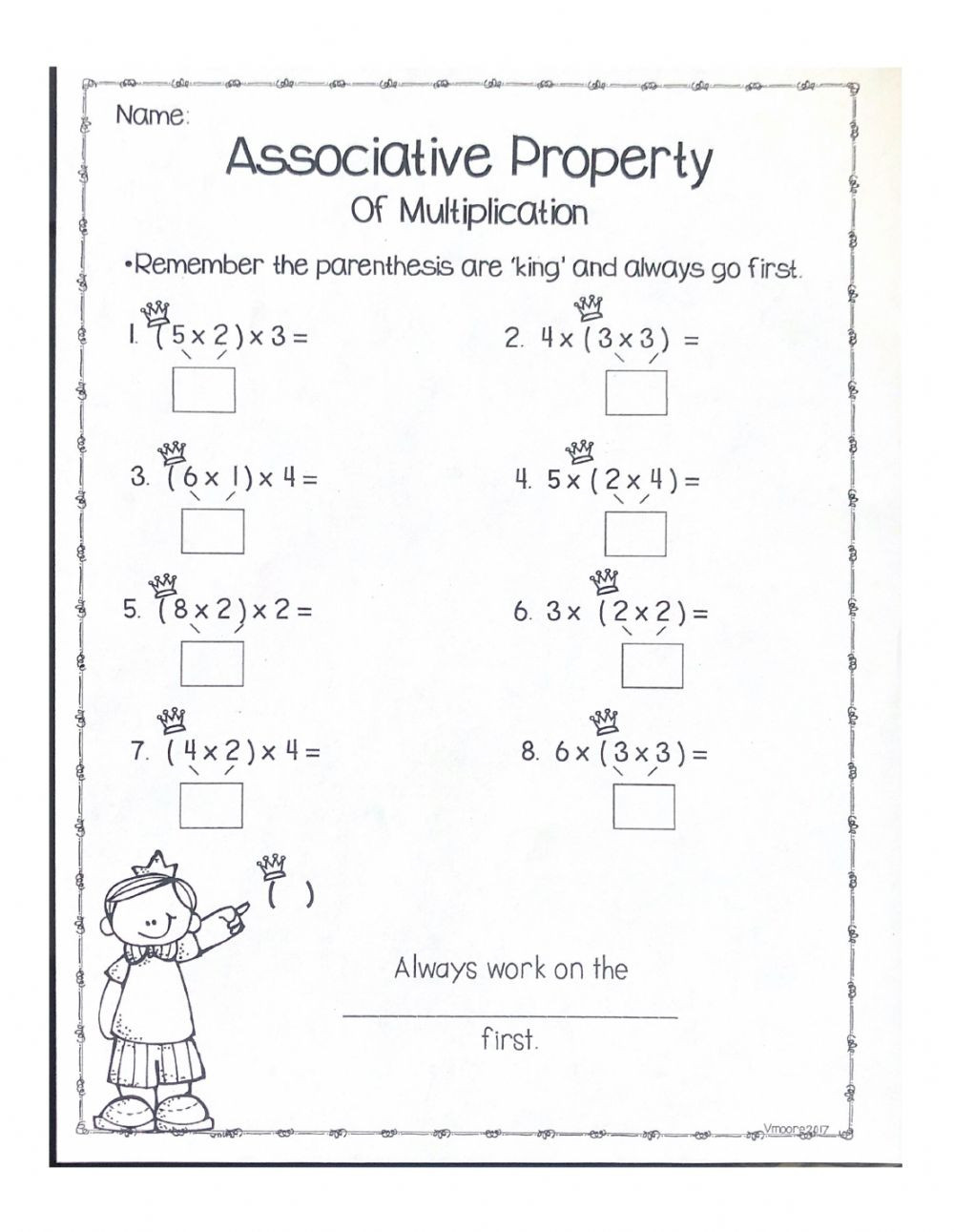Associative Property Of Multiplication Worksheet associative Property Worksheet Worksheet