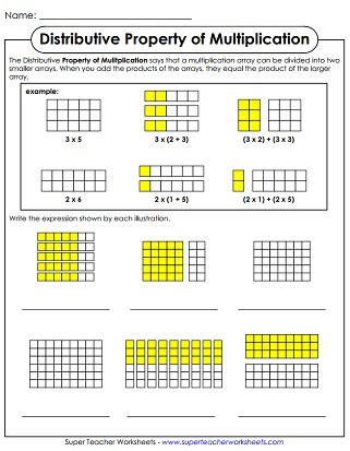 Associative Property Of Multiplication Worksheet Properties Of Multiplication Worksheets