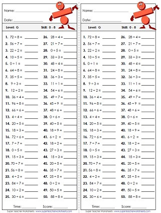 Basic Multiplication and Division Worksheets Division Worksheets Basic