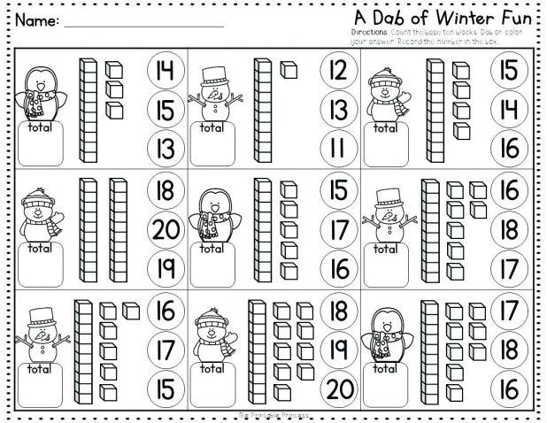 Bingo Dauber Number Worksheets Winter Fun Using Bingo Dabbers No Prep Dauber Alphabet