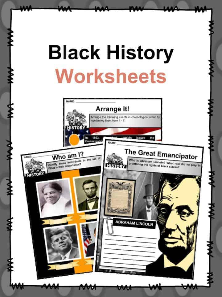Black History Printable Worksheets Black History Facts & Worksheets