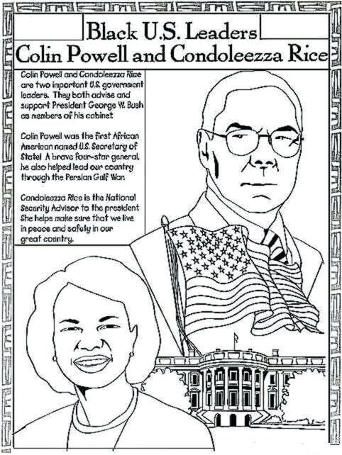Black History Printable Worksheets Free Printable Black History Month Coloring Us Leaders