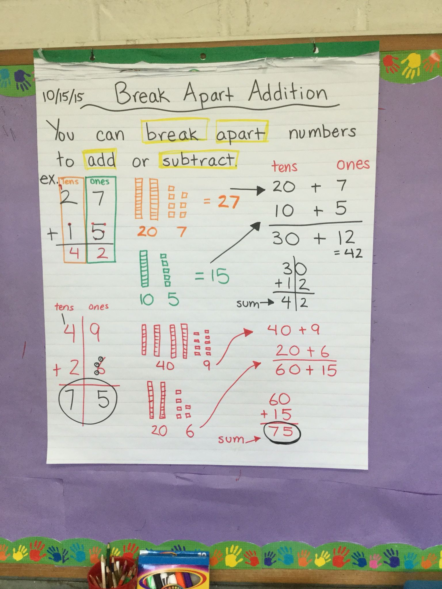 Breaking Apart to Multiply Worksheets Break Apart Method Mon Core