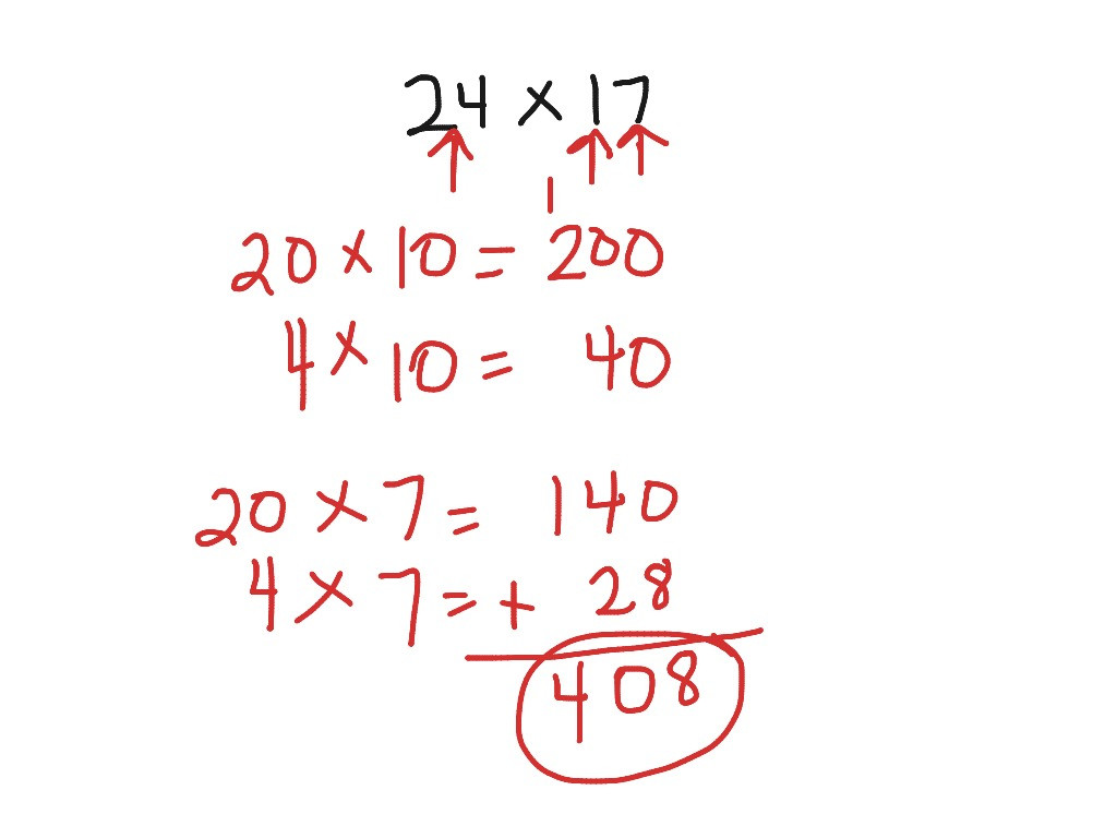 Breaking Apart to Multiply Worksheets Break Apart Strategy Math Multiplication