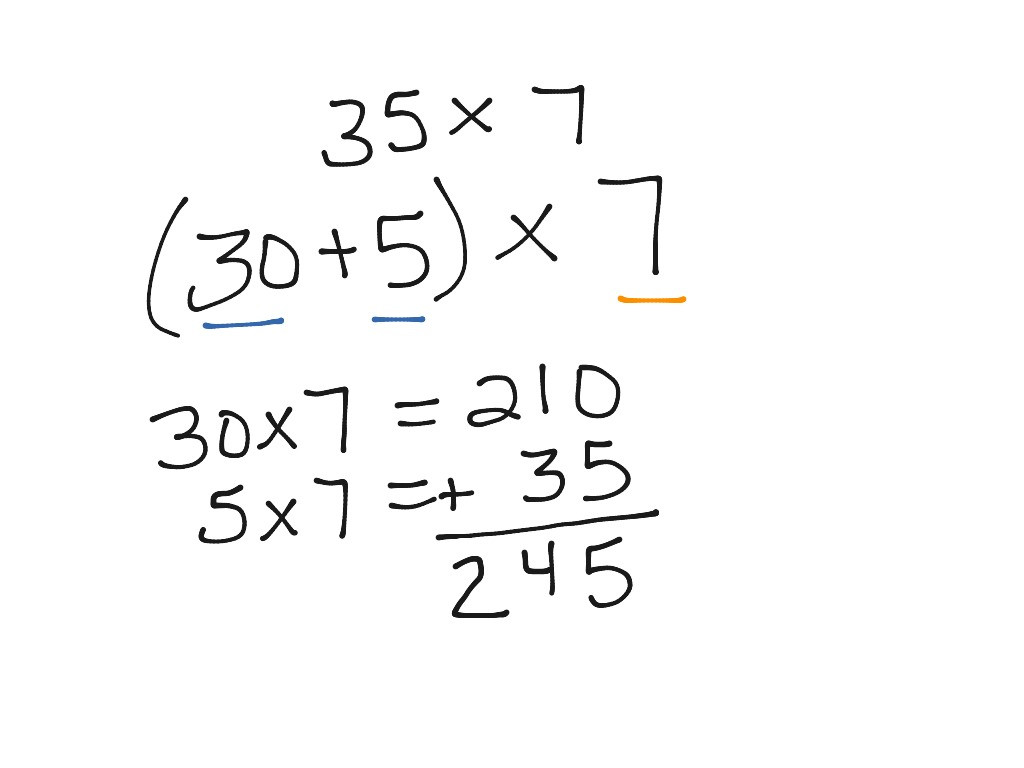 Breaking Apart to Multiply Worksheets Multiplication Using Break Apart Method