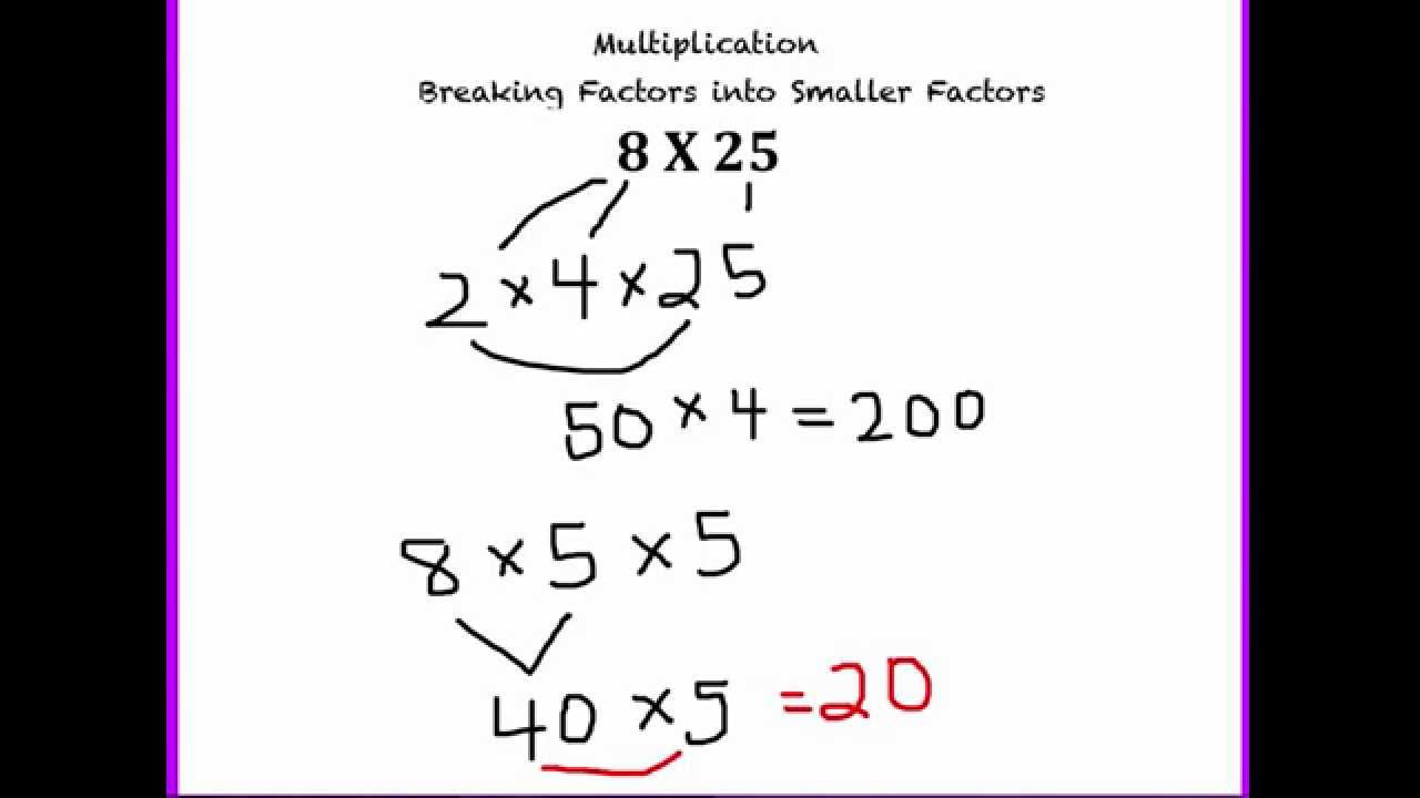 Breaking Apart to Multiply Worksheets Number Talks Strategies Multiplication Breaking Factors Into Smaller Factors