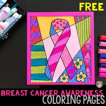 Breast Cancer Awareness Worksheets Printable Free Breast Cancer Awareness Ribbon Coloring Pages