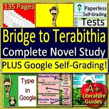 Bridge to Terabithia Printable Worksheets Bridge to Terabithia Novel Study Distance Learning W Self