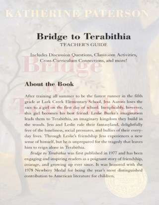 Bridge to Terabithia Printable Worksheets Teacher S Guide Bridge to Terabithia by Katherine Paterson