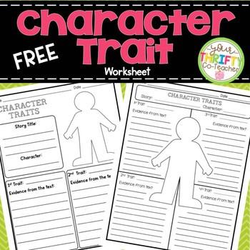 Character Traits Printable Worksheets Character Traits Graphic organizer Worksheet