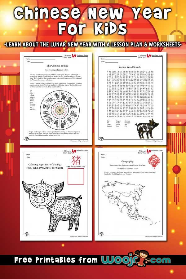 Chinese New Year Worksheets Printable Chinese New Year for Kids